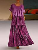hesapli Büyük Beden Elbiseleri-Kadın's Çan Elbise - Geometrik Maksi