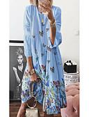 hesapli Kadın Elbiseleri-Kadın's Temel Kombinezon Elbise - Geometrik, Desen Diz-boyu