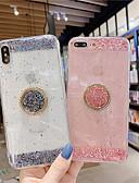 זול מגנים לאייפון-מקרה לאפל iphone xs מקסימום / iphone 8 בתוספת אטום נגד אבק / מחזיק טבעת / כיסוי אחורי שקוף נצנצים ברק tpu עבור iphone 7/7 פלוס / 8/6/6 פלוס / xr / x / xs