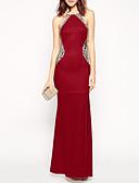 hesapli NYE Elbiseleri-Kadın's Kılıf Elbise - Solid Maksi