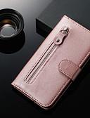 זול מגנים לטלפון-מגן עבור Xiaomi Xiaomi Redmi 6 Pro / Xiaomi Redmi Note 7 / Xiaomi Redmi Note 7 Pro ארנק / מחזיק כרטיסים / עם מעמד כיסוי מלא אחיד עור PU