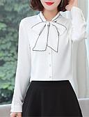 hesapli Gömlek-Kadın's Gömlek Fiyonklar, Solid Çin Stili Açık Mavi
