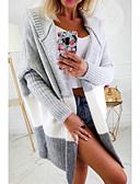 povoljno Ženski džemperi-Žene Color block Dugih rukava Kardigan, S kapuljačom Obala / Blushing Pink / Sive boje S / M / L