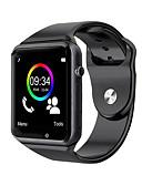 hesapli Akıllı Saatler-A1 saatler bluetooth smart watch spor pedometre destek android smartphone smartwatch için sim tf kartı