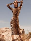 hesapli Print Dresses-Kadın's Temel Kılıf Elbise - Leopar, Desen Midi