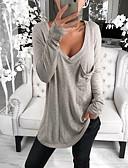 billige Kvinner Tanks & Camisoles-T-skjorte Dame - Ensfarget, Lapper Grunnleggende Svart / Hvit Svart