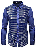 זול חולצות לגברים-גראפי בסיסי חולצה - בגדי ריקוד גברים פאייטים שחור ואדום / אדום זהב
