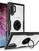 Недорогие Чехлы для телефонов-Кейс для Назначение SSamsung Galaxy Note 9 / Galaxy Note 10 / Galaxy Note 10 Plus Кольца-держатели Кейс на заднюю панель Прозрачный ТПУ / ПК / Металл