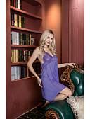 זול חזיות-בגדי ריקוד נשים מידות גדולות חצאיות - אחיד תחרה / גב חשוף סגול XXXL XXXXL XXXXXL / כתפיה / סטרפלס / סקסית