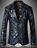 hesapli Erkek Blazerları ve Takım Elbiseleri-Erkek Blazer Çentik Yaka Polyester Havuz US32 / UK32 / EU40 / US34 / UK34 / EU42 / US36 / UK36 / EU44