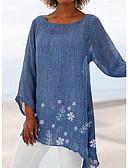 hesapli Kadın Etekleri-Kadın's Tişört Çiçekli Beyaz