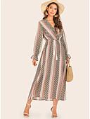 Недорогие Платья-Жен. Оболочка Платье - Однотонный Средней длины
