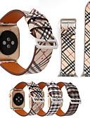 hesapli Smartwatch Bantları-Ekose desen deri bilezik kayış apple watch band için 44mm / 40mm / 42mm / 38mm kadınlar / erkekler için saatler bileklik izle serisi 3 2 1