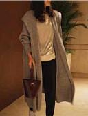 povoljno Ženski džemperi-Žene Jednobojni Dugih rukava Kardigan, S kapuljačom Sive boje S / M / L