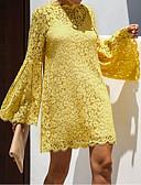 hesapli Kadın Elbiseleri-Kadın's Kılıf Elbise - Solid Diz üstü