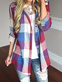 رخيصةأون قمصان نسائية-نسائي بوهو طباعة قميص, ألوان متناوبة / منقوش