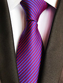 זול עניבות ועניבות פרפר לגברים-עניבת צווארון - פסים מסיבה / עבודה בגדי ריקוד גברים