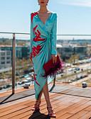 hesapli Günlük Elbiseler-Kadın's Temel Kılıf Elbise - Zıt Renkli Asimetrik