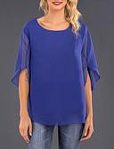 povoljno Majica s rukavima-Majica s rukavima Žene Dnevni Nosite Jednobojni Chiffon Fuksija / Proljeće / Ljeto / Jesen / Zima
