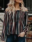 billige Maxikjoler-Skjorte Dame - Stripet, Trykt mønster Vintage Regnbue