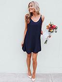 billiga Miniklänningar-Dam Grundläggande Elegant Mantel Klänning - Enfärgad Ovanför knäet