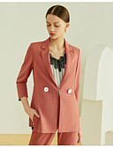 hesapli Suit-Kadın's Suit Çentik Yaka Polyester YAKUT S / M / L