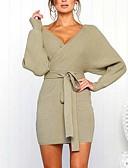 povoljno Sweater Dresses-Žene Ulični šik Punk & Gotika Bodycon Korice Pletivo Haljina - Vezanje straga Kolaž, Jednobojni Mini