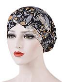 זול כובעים לנשים-כל העונות שחור כתום כחול ים כובע עם שוליים רחבים פרחוני כותנה פוליאסטר בסיסי בגדי ריקוד נשים