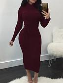 povoljno Sweater Dresses-Žene Ulični šik Elegantno Bodycon Korice Pletivo Haljina - Vezanje straga, Jednobojni Maxi
