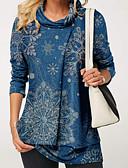 hesapli Mini Elbiseler-Kadın's Bluz Geometrik Temel Siyah