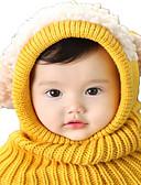 זול ילדים כובעים ומצחיות-מידה אחת ורוד מסמיק / צהוב / פול כובעים ומצחיות כותנה / סריג רומי מסוגנן / סריגה אנימציה פעיל / בסיסי / מתוק בנים / בנות ילדים / פעוטות
