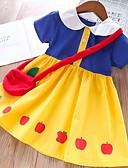 זול שמלות לבנות-שמלה קולור בלוק / חג ליל כל הקדושים בנות ילדים