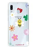 זול מגנים לטלפון-מגן עבור Samsung Galaxy A6 (2018) / Galaxy A7(2018) / Galaxy A10 (2019) אולטרה דק / שקוף / תבנית כיסוי אחורי אנימציה TPU