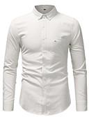 זול חולצות לגברים-אחיד עסקים / בסיסי חולצה - בגדי ריקוד גברים לבן