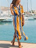 זול שמלות מקסי-מקסי קולור בלוק - שמלה סווינג בגדי ריקוד נשים
