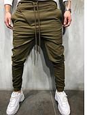 cheap Men's Pants & Shorts-Men's Punk & Gothic Chinos / Sweatpants Pants - Plaid / Checkered Dusty Blue, Classic / Sporty Black Light gray Army Green US32 / UK32 / EU40 US34 / UK34 / EU42 US36 / UK36 / EU44