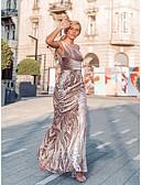 povoljno Večernje haljine-Sirena kroj Na jedno rame Do poda Baršun Formalna večer Haljina s Šljokice po LAN TING Express