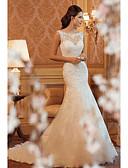 povoljno Vjenčanice-Sirena kroj Lađa izrez Srednji šlep Čipka Izrađene su mjere za vjenčanja s po LAN TING Express