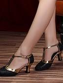 povoljno Haljine za djevojčice-Žene Plesne cipele Koža Moderna obuća Štikle Debela peta Moguće personalizirati Crn / Silver Gray / purpurna boja / Seksi blagdanski kostimi