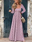 povoljno Print Dresses-Žene Boho Shift Haljina Geometrijski oblici Maxi