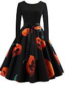 זול שמלות נשים-מידי פאייטים, גיאומטרי - שמלה גזרת A אלגנטית בגדי ריקוד נשים