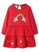povoljno Haljine za djevojčice-Djeca Djevojčice Slatka Style Životinja Haljina Red