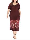 זול שמלות מודפסות-מידי גיאומטרי - שמלה נדן בסיסי בגדי ריקוד נשים