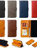זול מגנים לטלפון-מגן עבור Xiaomi Xiaomi Redmi Note 7 / Xiaomi Redmi Note 7 Pro / Xiaomi Redmi 7 ארנק / מחזיק כרטיסים / עם מעמד כיסוי מלא אחיד / חתול עור PU