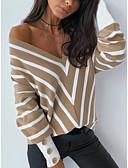 ieftine Bluză-Pentru femei Bluză De Bază - Dungi Negru