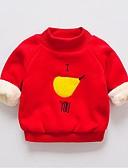povoljno Majice s kapuljačama i trenirke za bebe-Dijete Djevojčice Osnovni Crvena Jednobojni / Print / Voće 3/4 rukava Trenirka s kapuljačom Blushing Pink
