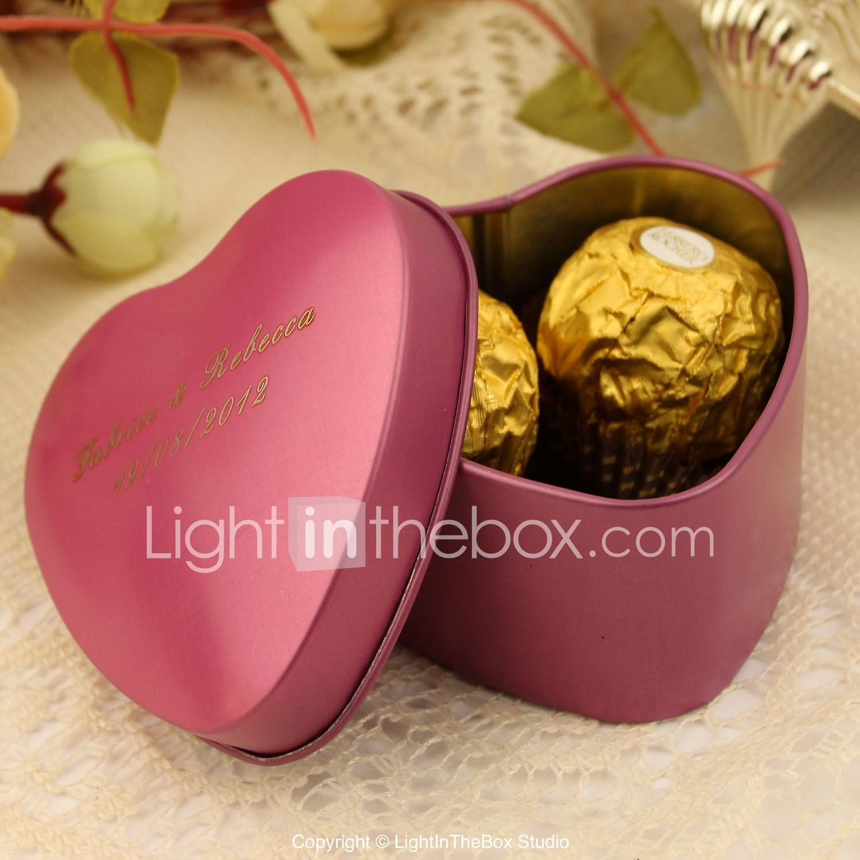 Heart Creative Tins Favor Holder with Pattern Favor Boxes Favor Tins ...