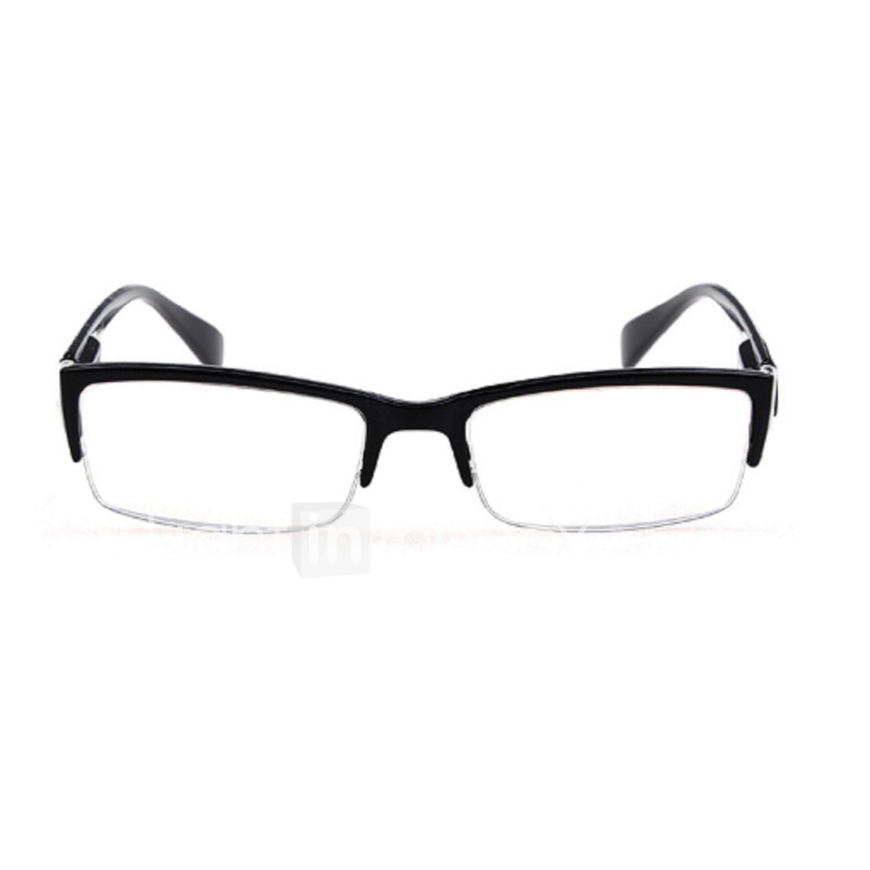 Lentes Gratis] Hombre/Mujer/Unisex \'s Rectángulo Media Montura Gafas ...