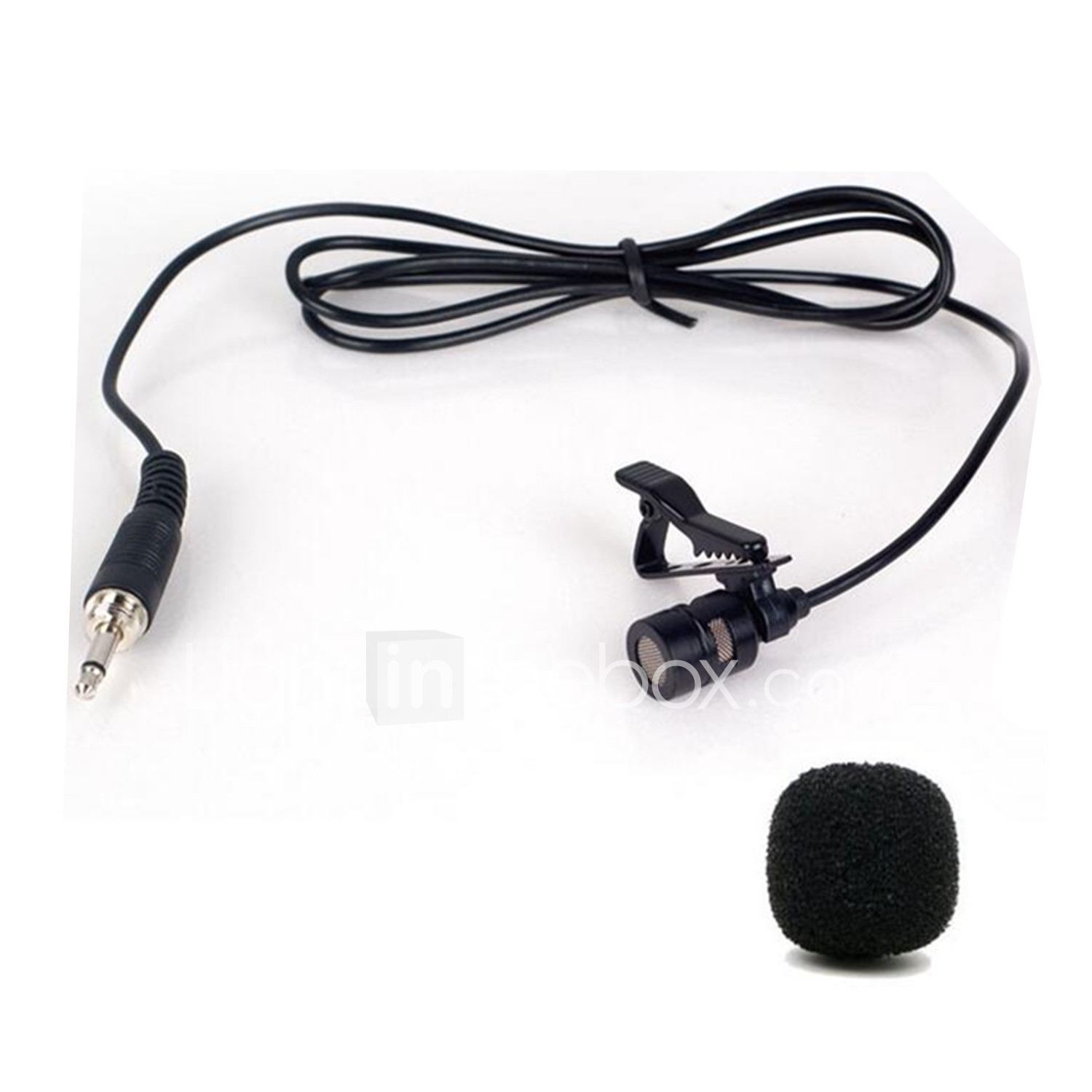 HDE 2 Pack Mini Hands Free Lavalier Clip-On Lapel Mic 3.5mm Jack Computer Microphone