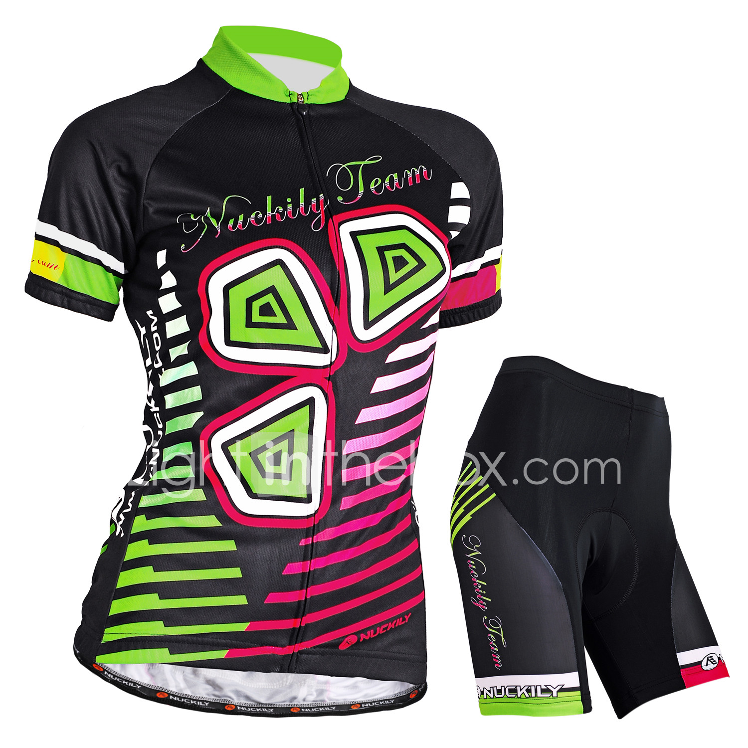 Nuckily Women s Short Sleeve Cycling Jersey with Shorts - Black Bike Shorts  Jersey Clothing Suit Waterproof 56e14f131